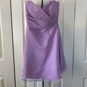 Short, Lilac Formal Dress: Homecoming, Prom